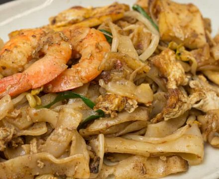Malaysian Char Kway Teow (Stir Fried Flat Noodles)