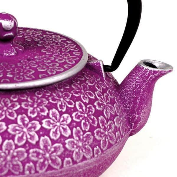 Japanese Sakura Cherry Blossoms Cast Iron Teapot