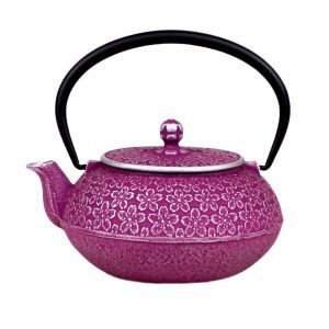 Japanese Sakura Cherry Blossoms Cast Iron Teapot