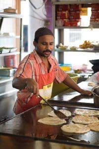 cooking roti canai